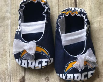 LA Chargers Baby Mary Jane Shoes