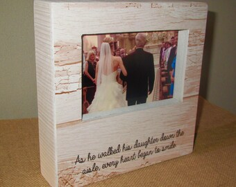 Father of the Bride Gift for Dad Wedding As he walked his daughter down the aisle Wedding Party Gift