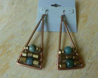 Copper Wire Wrapped earrings