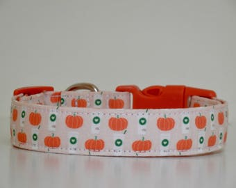 Pumpkin Spice Latte Fall Autumn Dog Collar Orange Peach Dog Collar Wedding Accessories Made to Order