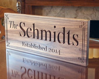 Parents Anniversary Gift Family Name Sign Personalized Custom Wedding Engagement