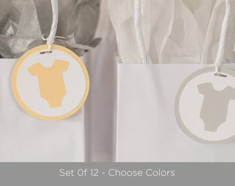 Baby Shower Decorations- OnePiece Tags - Set of 12