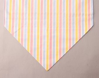 Spring Table Runner, Striped, Easter Table Runner, Table Runner, Spring Decor, Modern Table Decor, Yellow, Pink, Blue, Spring Table Decor