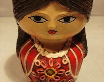 Vintage Spainish Lady Candle Holder