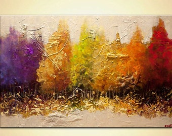 Canvas Art - Stretched, Embellished & Ready-to-Hang Print - Five Seasons - Art by Osnat