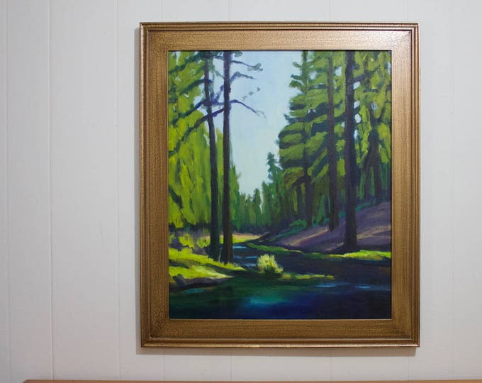Painting Fall River Oregon with Frame Oregon by heART Sherri McDowell Artist