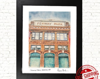 Boston Red Sox  fan gift  fenway park gift red sox mancave Home Decor Poster