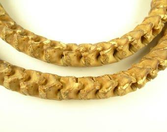 """30"""" matched full strand snake vertebrae spacer trade beads tribal Africa AB-0119"""