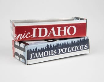 Idaho license plate box - father's day gift - gift for mom's dad's and grad's - teacher gift - graduation gift - graduation gift box