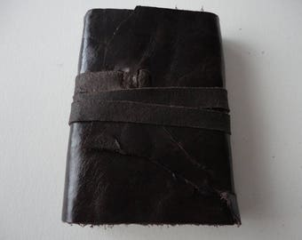 Medieval  A7 Rich Dark brown leather journal
