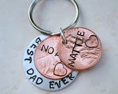 Fathers Day Gift, Stamped Penny, Father's Day Gift, Personalized Keychain, Penny Keychain, Gift for Dad, Custom Keychain, Key Chain