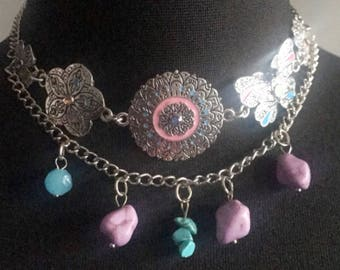 Labelle Double Layer Choker Jewelry, Double Layered Choker,  Choker Necklace, Choker Jewelry, Multilayered Choker Jewelry, Choker Necklace