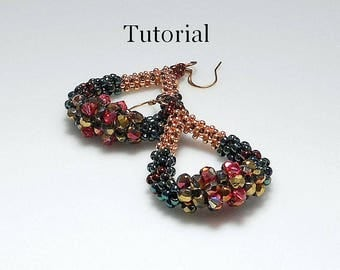 "Beaded Earring Tutorial CRAW ""Karita"" Pdf Format INSTANT DOWNLOAD"