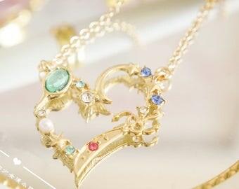 Japan Comic Sailor Moon Crystal  Crystal Neptune Uranus Necklace