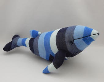 Humpback Whale Plush Toy, Whale Stuffed Animal, Whale Stuffed Toy, Sock Monkey