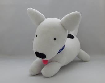 Bull Terrier Plush Toy, Dog Stuffed Animal, Puppy Plushie, Plush, Stuffed Toy, Sock Monkey