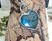 Blue LABRADORITE Necklace, Dainty Boho Necklace, Shine Labradorite, One of a Kind, Labradorite Pendant, Unique Jewelry, bridesmaid gift