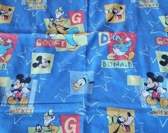 SALE Vintage Disney Twin flat bed sheet