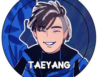 Taeyang - Big Bang buttons Kpop fanart collection (based on mv FX) Top, G-dragon, Taeyang, Seungri, Daesung drawn by DreamEden