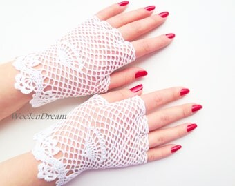 Bridal fashion accessory,crochet jewelry, victorian style fingerless lace glove, romantic summer wedding,bohemian evening dress,gift for Her