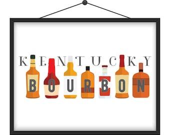 Kentucky Bourbon Art Print