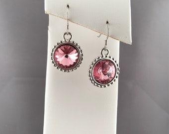 Light Rose Swarovski Earrings
