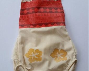 Ivory Moana Vintage Lace Baby Infant Girl Romper Sunsuit Bubble Sun Suit
