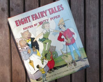 Eight Fairy Tales, Watty Piper, Collection of Children's Stories, Color Illustrations
