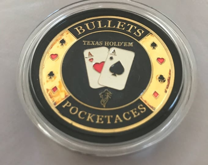 Card Guard Poker Bullets Pocket Aces