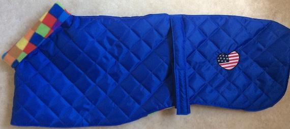 "Greyhound waterproof winter coat 30"" long readymade"