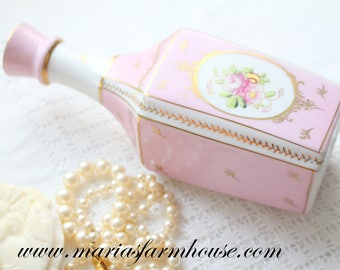 PERFUME BOTTLE, Porcelain Perfume Oil Vessel by Parisienne, Vanity Decor, Gifts for Her - ca. 1920s