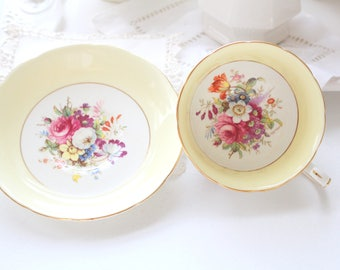 TEA CUP, Vintage, English Bone China Tea Cup & Saucer by Hammersley and Co., Tea Party, Gifts for Her, Replacement China