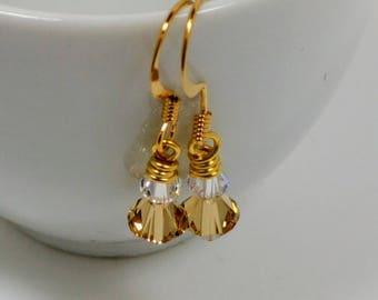 Simple Swarovski Crystal Earrings