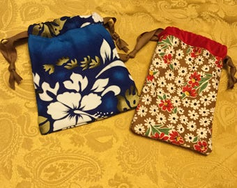 Drawstring bags floral