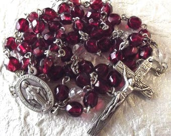 January/Garnet Crystal Birthstone Rosary