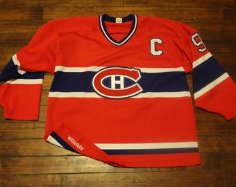 Montreal Canadiens starter jersey vintage NHL hockey stitched sweater #9 captain