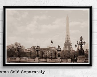 Eiffel Tower 3 - Paris Landmark Pop Art Print and Poster France Monument Landmark Europe Travel Home Decor Canvas