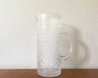ON SALE Vintage Iittala Hopla Glass Pitcher / Tapio Wirkkala