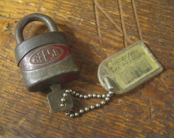 SALE!! Old Padlock With Key , Reese Padlock With Working Key , Gym Locker Padlock