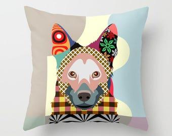 German Shepherd Pillow,  German Shepherd Gifts,  Dog Lover Gift,  Dog Lover Pillow, Dog Throw Pillow, Dog Pillow Cover