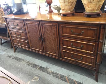Gorgeous Faux Bamboo Dixie Tahiti Dresser Or Buffet