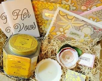Showered {Bride} Box {silk flower corsage}