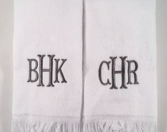 monogram fingertip towels set of 2 sale - Fingertip Towels