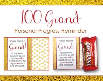 Personal Progress Reminder - 100 Grand - Printable LDS Young Womens Gift