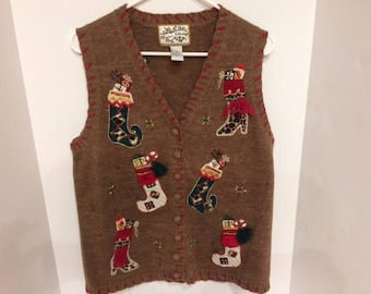 christmas sweater size small  ugly christmas sweater holiday sweater