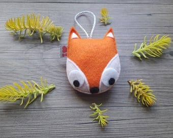 Cute Fox Ornament, Baby Shower Favor, Orange Decor, Woodland Summer, Friend Gift, Wedding Party Prize, Nature Lovers, Fun Felt Decoration