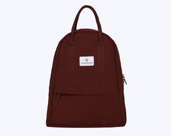 NO. 6 Backpack, Canvas Backpack, Auburn Backpack, Women Backpack, Kid Backpack, Vegan Friendly Backpack, 12 Inch Macbook Backpack