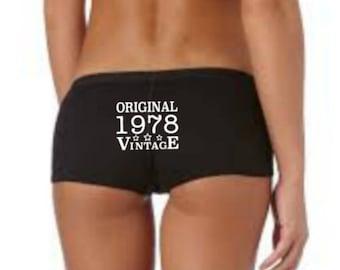 40th Birthday Gift, 40th Birthday Panties, 40th Birthday Idea, 40th Funny Present, 1978 Birthday Knickers, 40 Birthday Gift for Her, 1978