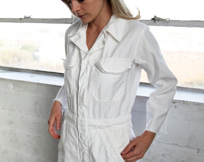 White Cotton Coveralls