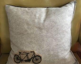 Tandem Bicycle Down Pillow